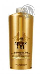 Loreal mythic oil шампунь для нормальных тонких волос 1000мл ж