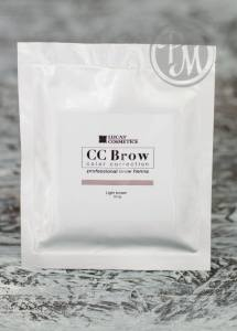 Lucas cosmetics хна для бровей cc brow light brown в саше светло-коричневый 10г.